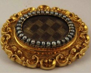 gold mourning brooch