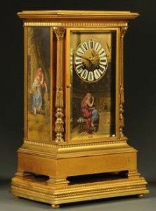 brass mantle clock