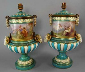Sevres style vases