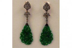 Jadeite drop earrings