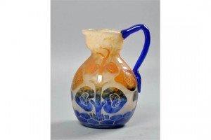 cameo glass jug