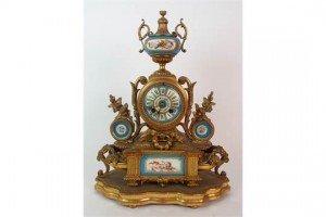 gilt metal mantle clock