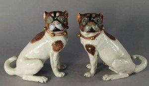 Dresden porcelain pugs