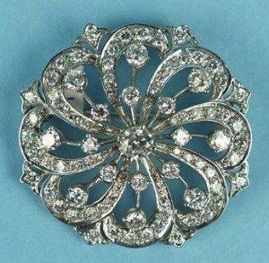 diamond brooch pendant