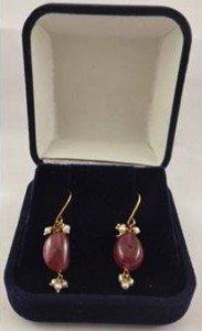 mounted drop earrings