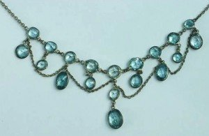 zircon fringe necklace