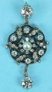 Victorian diamond brooch