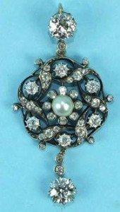 Victorian diamond brooch
