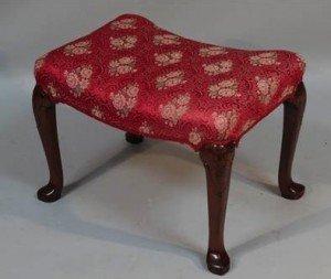 mahogany framed stool