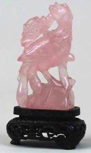 Chinese Rose Quartz carving