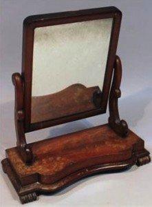 mahogany table mirror