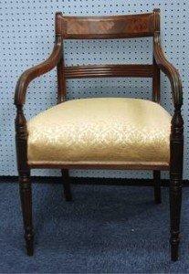 mahogany elbow chair