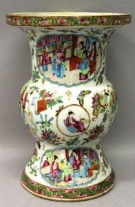 Canton porcelain vase