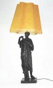 metal figural table lamp