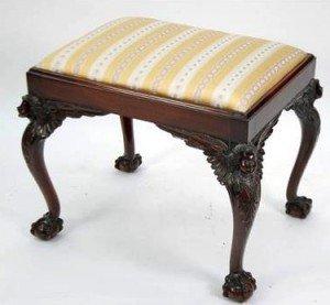mahogany piano stool