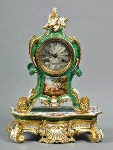 rococo mantel clock