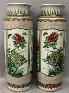 porcelain sleeve vases