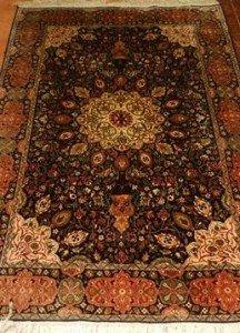 Kashmiri silk rug,