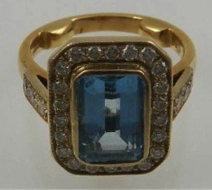 aquamarine dress ring