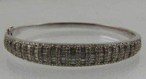 diamond set bangle