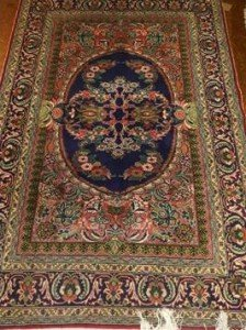 blue ground Mehrab rug