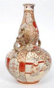 Japanese Satsuma gourd vase