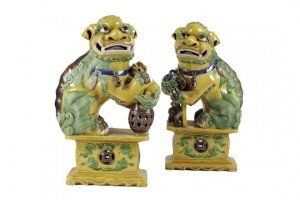 Buddhist lion dogs