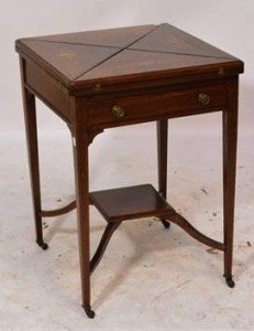 envelope card table