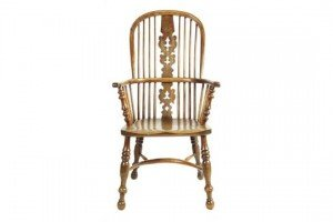 high back Windsor armchair