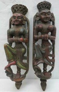 carved wooden figures