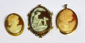 oval shell cameo brooch