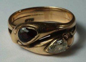 coiled snake ring
