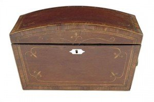 partridge wood tea chest