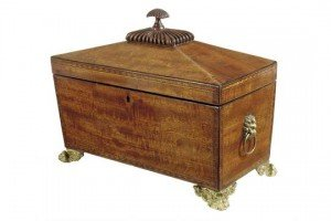 sarcophagus shaped tea chest