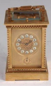striking carriage clock