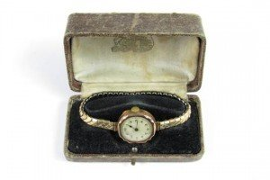 cased wristlet watch