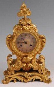 Rococo Revival mantel clock