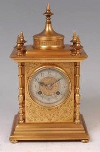 cased mantel clock