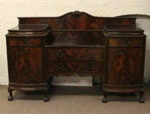 mahogany pedestal sideboard