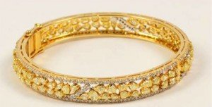 diamond hinged bangle