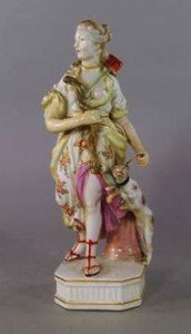 porcelain model of Diana