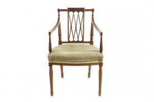satinwood open armchair