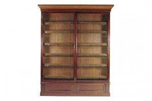 mahogany bookcase,