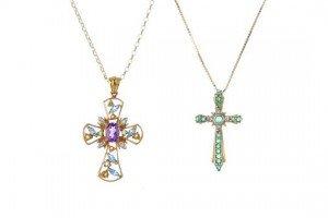 gem-set pendants