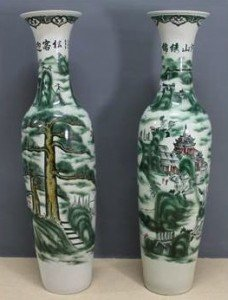 Chinese porcelain soldier vases