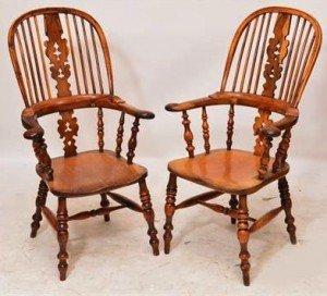 hoop back Windsor armchairs