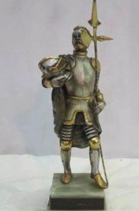 figure of a Spanish knight