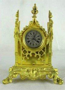 Gothic revival mantel clock