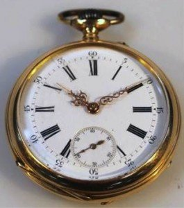 open face pocket watch