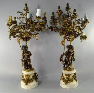 marble seven light candelabra